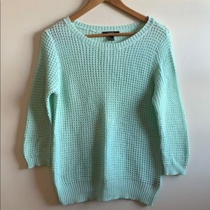 Mint green Forever21 sweater